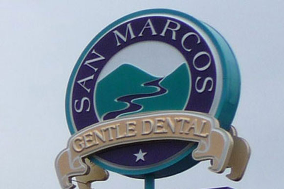 San Marcos Gentle Dental Exterior Sign